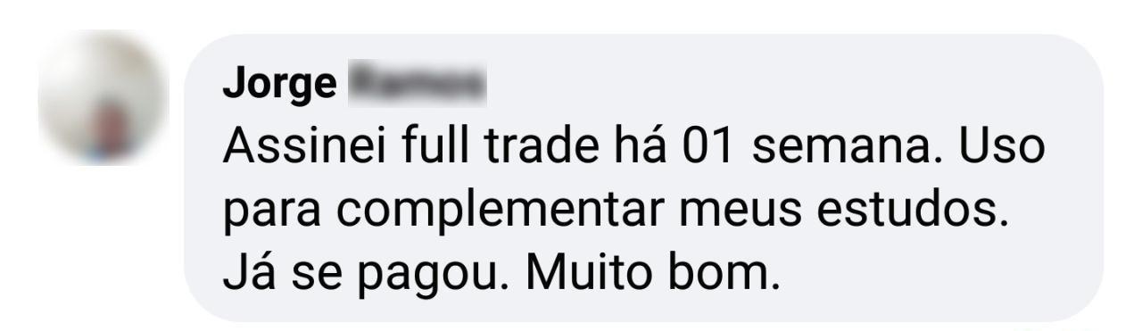 Depoimento de cliente sobre as operações de day trade